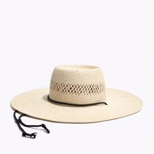Madewell Stampede Strap Straw Hat NWT S/M